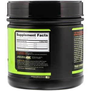 Optimum Nutrition, אבקה להכנה מהירה של BCAA 5000, ללא טעם, 345 גר' (12.16 oz)