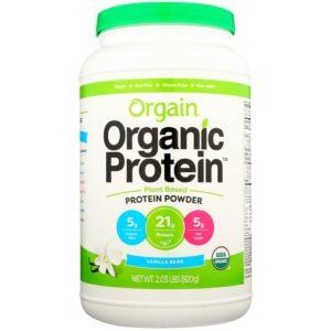 Orgain, אבקת חלבון אורגני, על בסיס צמחי, מקל וניל, 920 גר' (2.03 lbs)