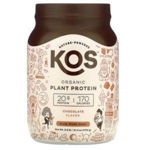 KOS, חלבון צמחי אורגני, בטעם שוקולד, 1,170 גרם (2.6 ליברות)