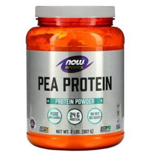 Now Foods, ספורט, חלבון אפונה, טהור ללא טעם, 907 גרם (2 ליבראות)