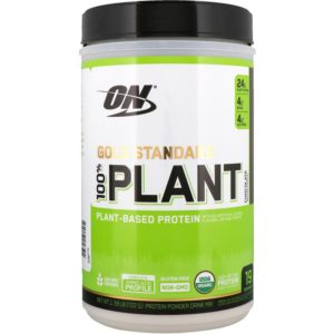 Optimum Nutrition, Gold Standard, 100% Plant-Based Protein, Chocolate, 1.59 lb (722 g) (Discontinued Item)